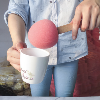 桃子造型洗杯刷海绵