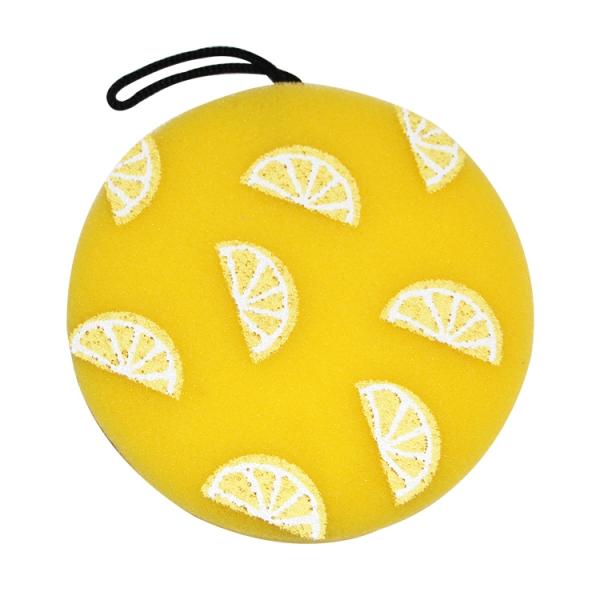 新款柠檬圈造型沐浴海绵